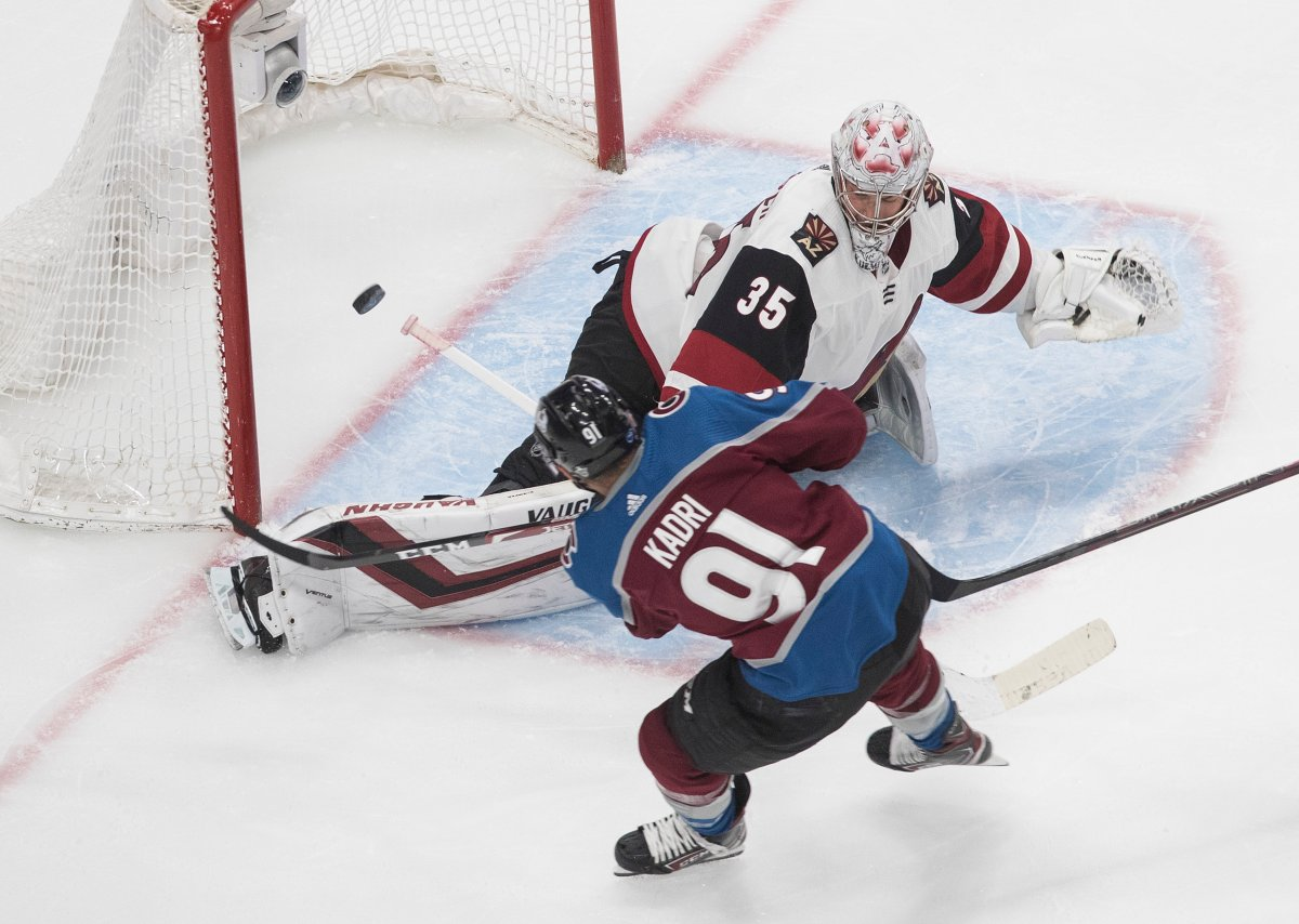 Nazem Kadri (91) has been a force for the Colorado Avalanche during the 2019-20 Stanley Cup playoffs.