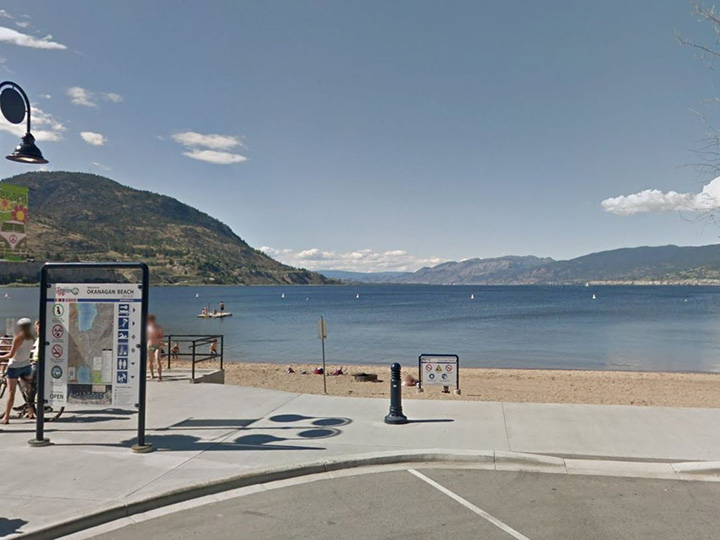 A view of Okanagan Lake and Okanagan Beach in Penticton. Police say a vacationing man was swimming in the lake on Tuesday afternoon when witnesses saw him lose consciousness while in the lake.