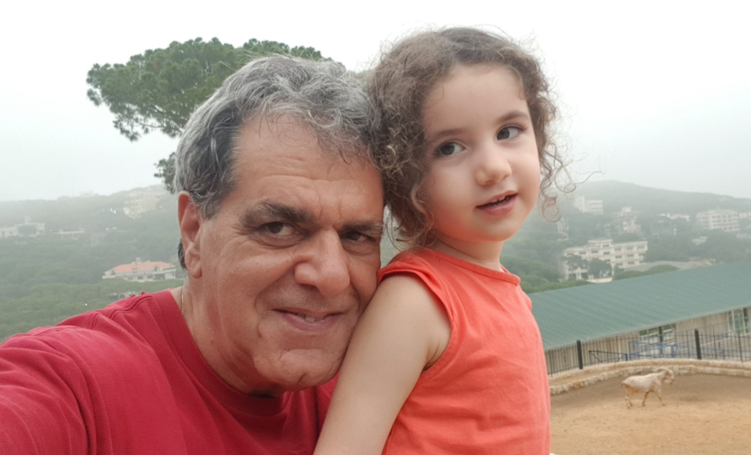 Michel Awad with his granddaughter Alexandra.