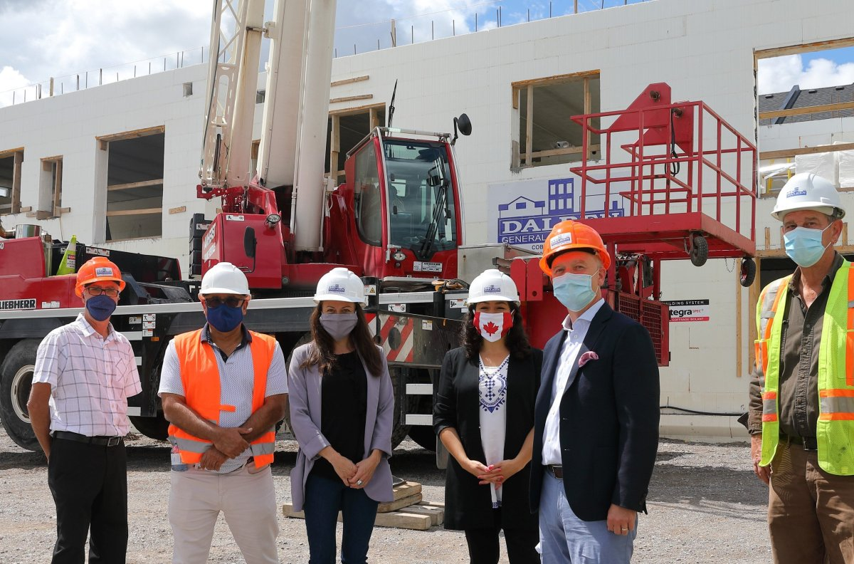 Maryam Monsef, Member of Parliament for Peterborough-Kawartha, on-site at 3789 Water Street in Peterborough where 25 residential units are being constructed with the help of $7.6 million from the Government of Canada.