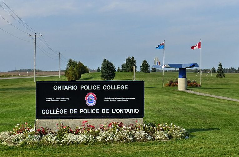 The entrance to the Ontario Police College in Aylmer, Ont.
