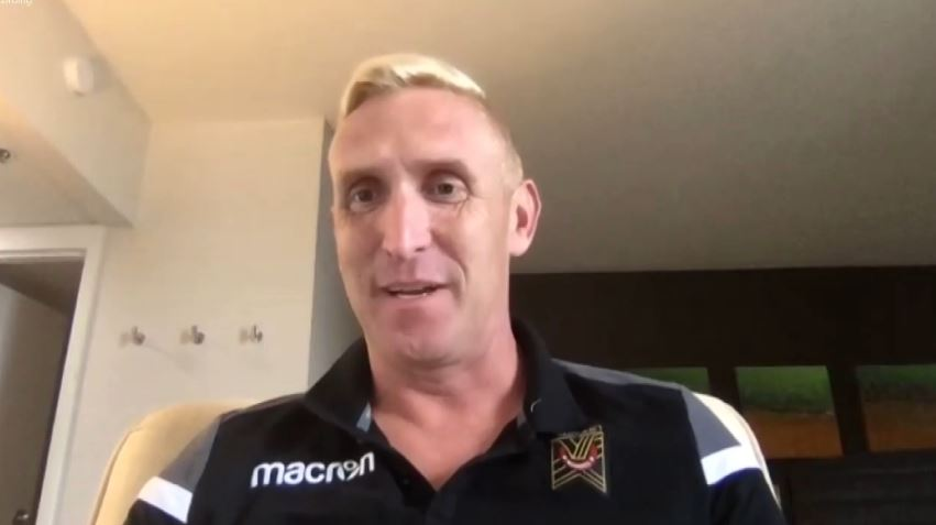 Valour FC head coach Rob Gale during a media Zoom call on Saturday, Aug. 15, 2020.