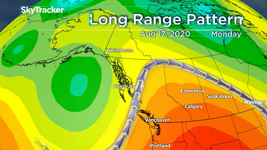 A high pressure ridge is enveloping Southern B.C. over the next few days, with temperatures peaking Sunday through Tuesday.