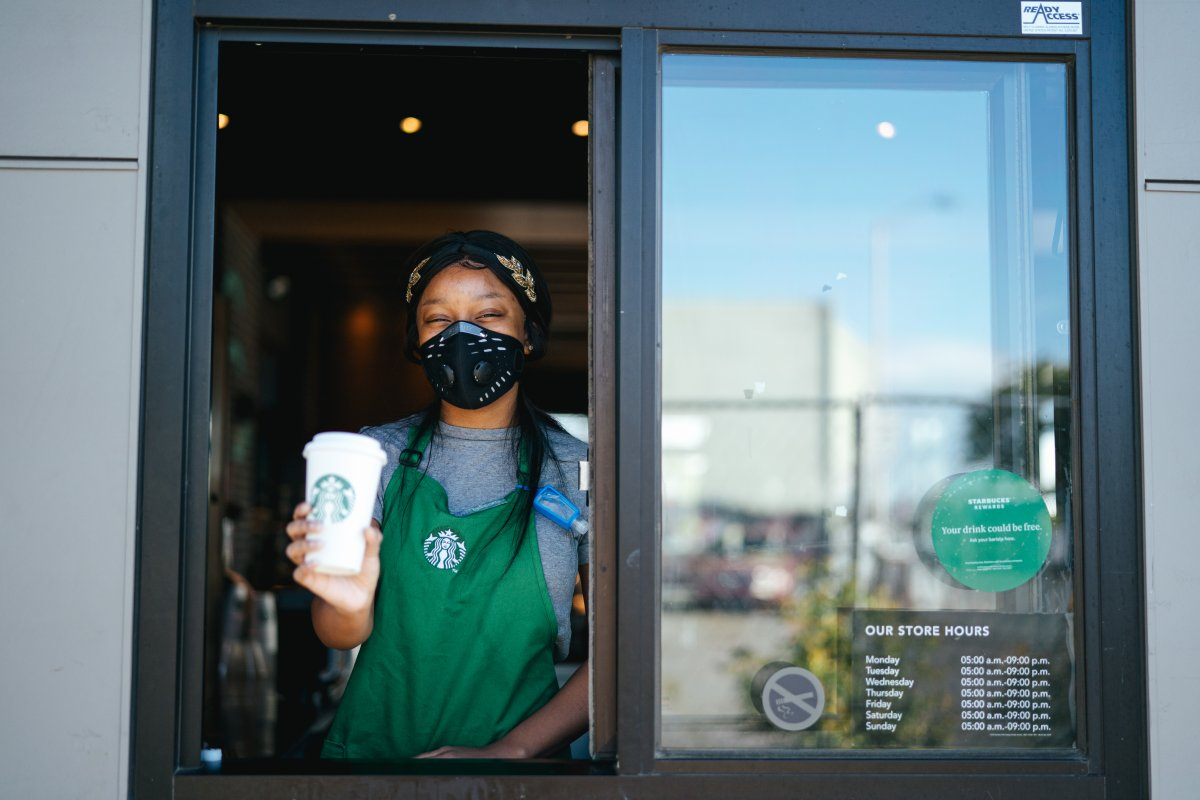 Starbucks Canada says its company-owned stores in Quebec and Ottawa will temporarily be take out-only.