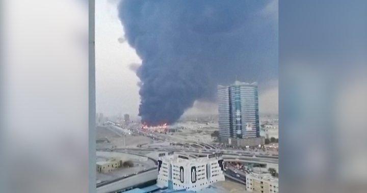 Massive fire erupts at market in Ajman, U.A.E.: reports