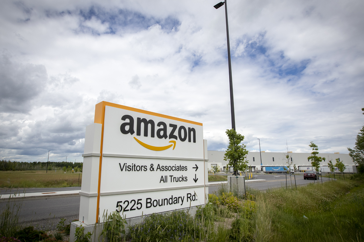 Amazon fulfillment centre in Ottawa, Ontario on Thursday, June 25, 2020.