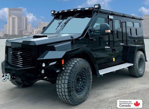 """The Edmonton Police Service spent $500,000 for its new armoured vehicle, the """"Cambli Balck Wolf""""."""