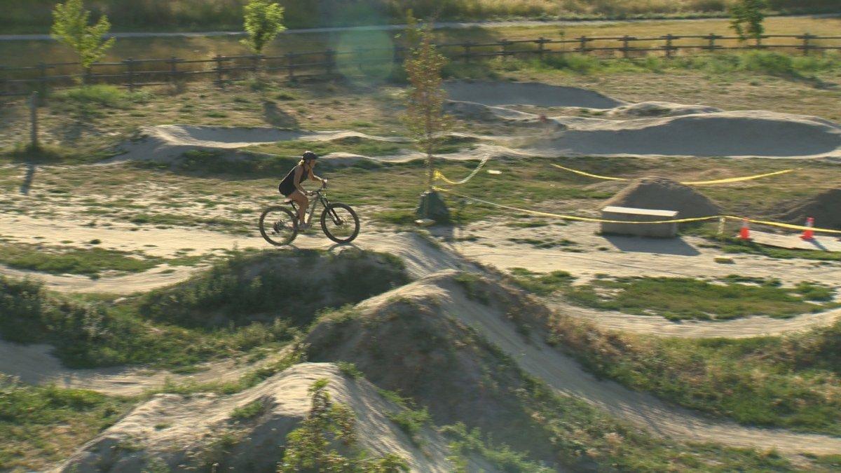 City of Kelowna working on maintenance project for Mission Creek's bike skills park.