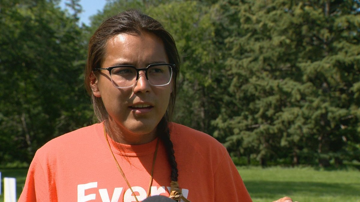 Tristen Durocher, who organized the camp, walked from La Ronge to Regina to raise awareness around Saskatchewan's suicide rates.
