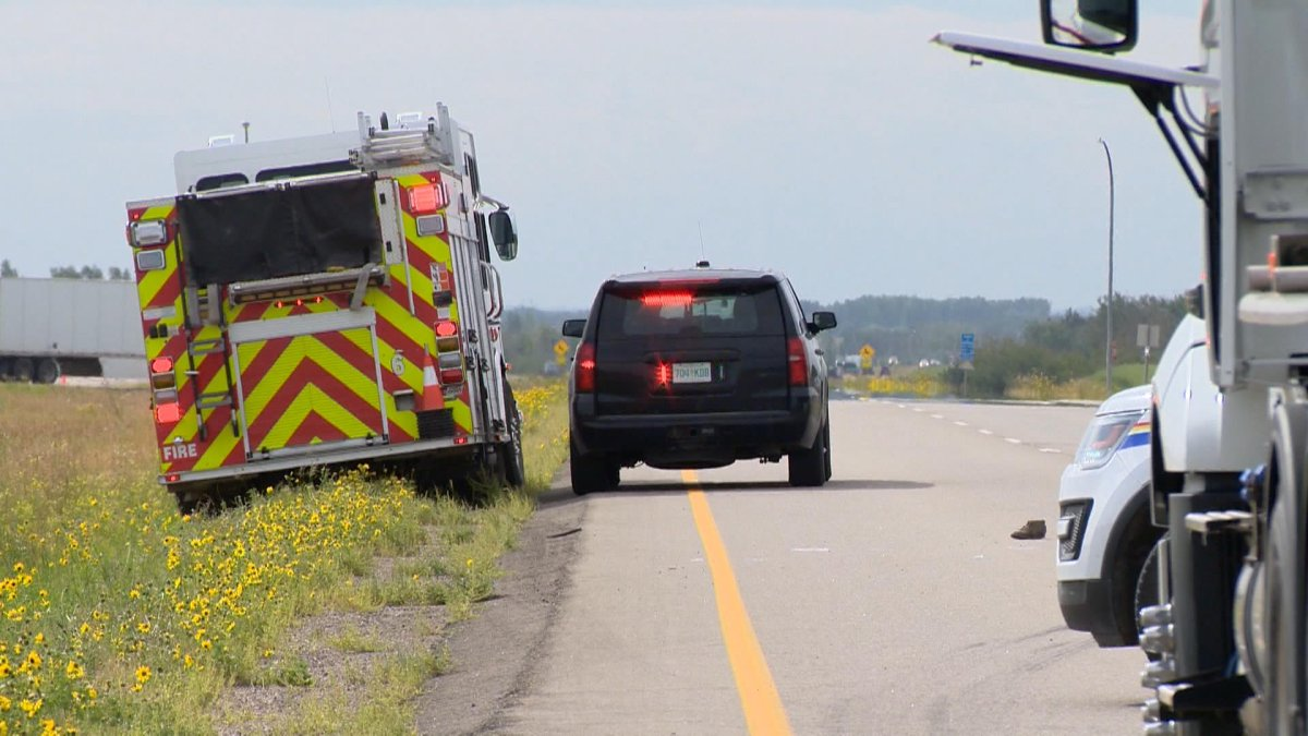 Emergency services were called to a collision south of Saskatoon that was later confirmed to be fatal on Wednesday.
