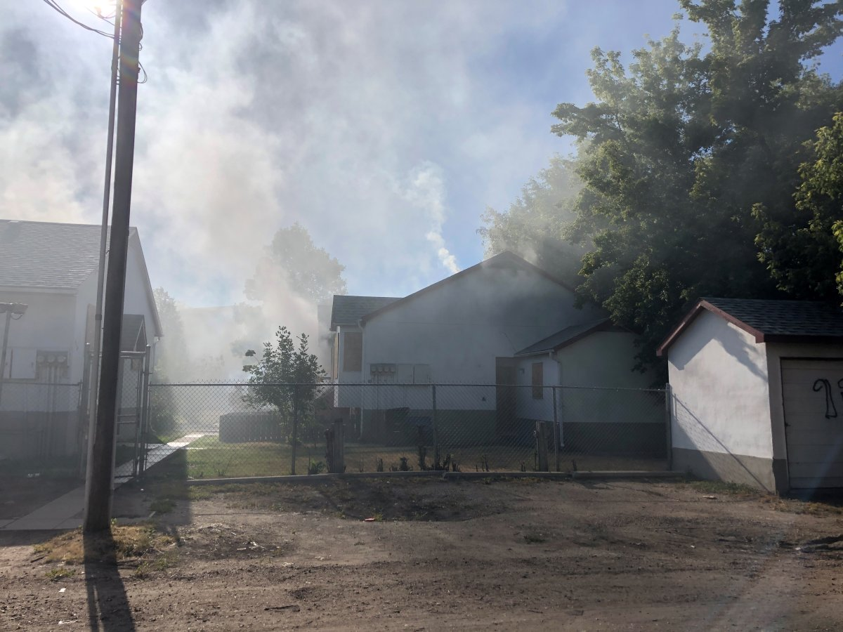 The Saskatoon Fire Department fought fires at two houses in the  300 block of Avenue R South on Sunday evening.