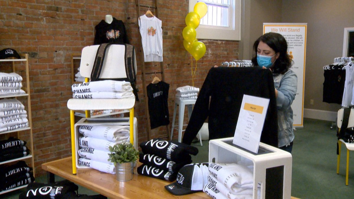 A pop up shop in Lethbridge is trying to educate people on human trafficking.