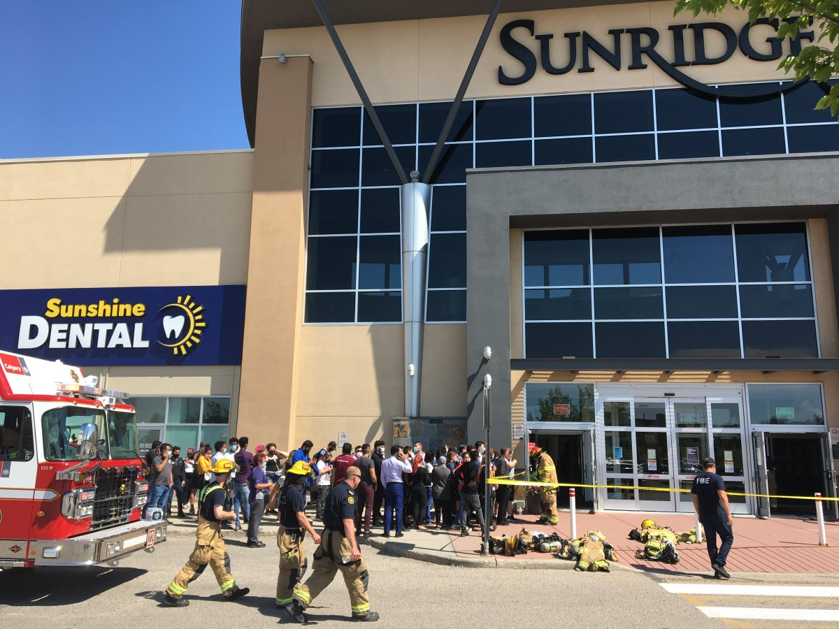 Calgary emergency crews evacuated Sunridge Mall on Saturday, Aug. 1, 2020, after suspects robbed a jewelry store using tear gas.