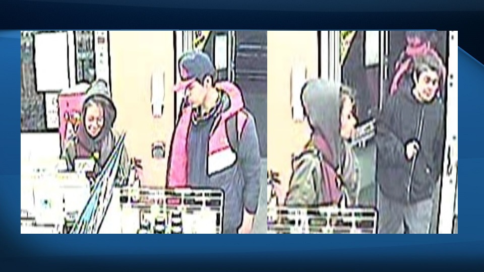 A woman, pictured with two different men. All three people are of interest to police, following an incident that led to a man's death.