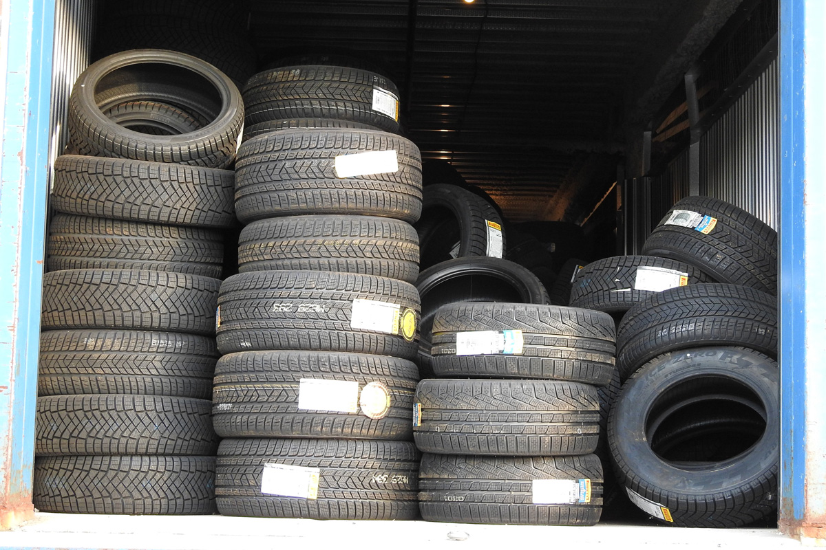 Police say the tires were found at a storage facility in Toronto.