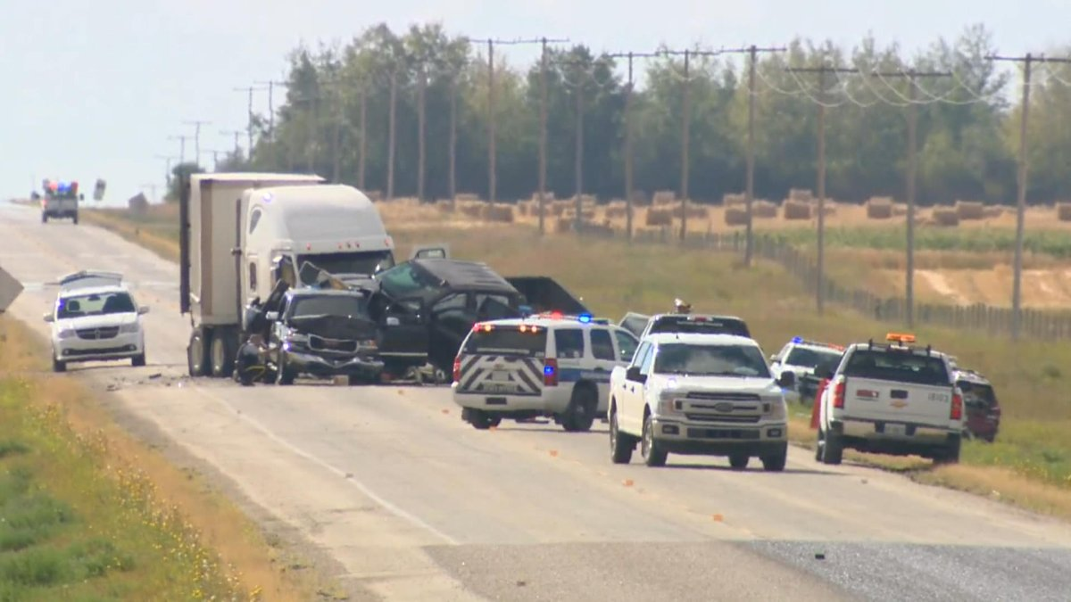 Emergency services were called to a multi-vehicle collision near Wakaw, Sask., on Tuesday.