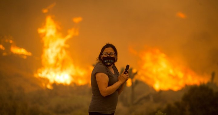Desert homes near Los Angeles threatened by massive California wildfire