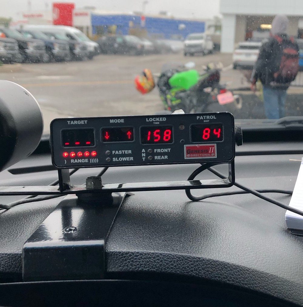 A motorcyclist was clocked travelling 158 km/h in an 80 km/h zone in the City of Kawartha Lakes.