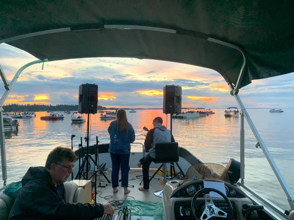 The idea to have a floating musical performance on a Saskatchewan lake turned into six concerts during the COVID-19 pandemic.