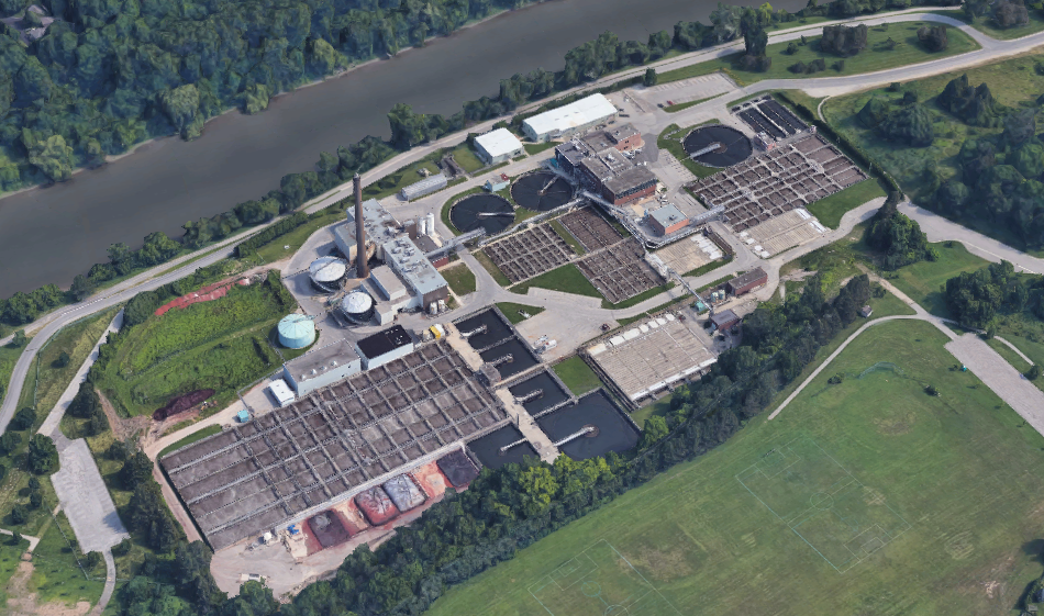 London's Greenway wastewater treatment facility. The plant treats some 60 per cent of London's wastewater.