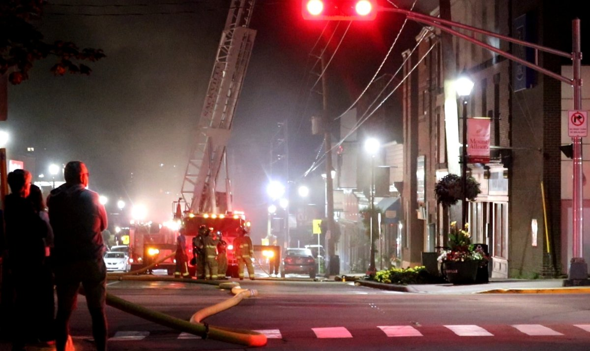 An undisclosed number of people have been displaced as a result of a fire in Sackville, N.B., on Tuesday.
