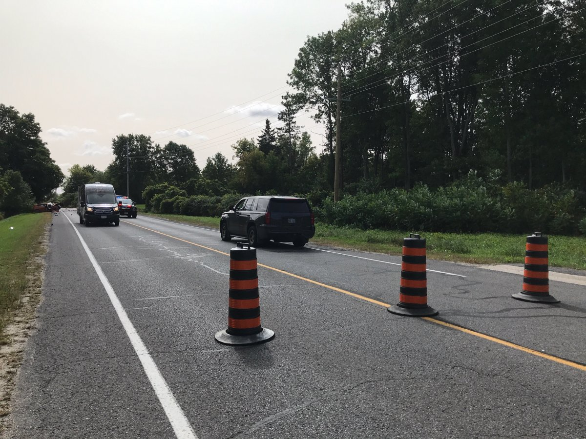 County Road 7 at Withers Road is closed while OPP investigate a head-on collision that left one person seriously injured.