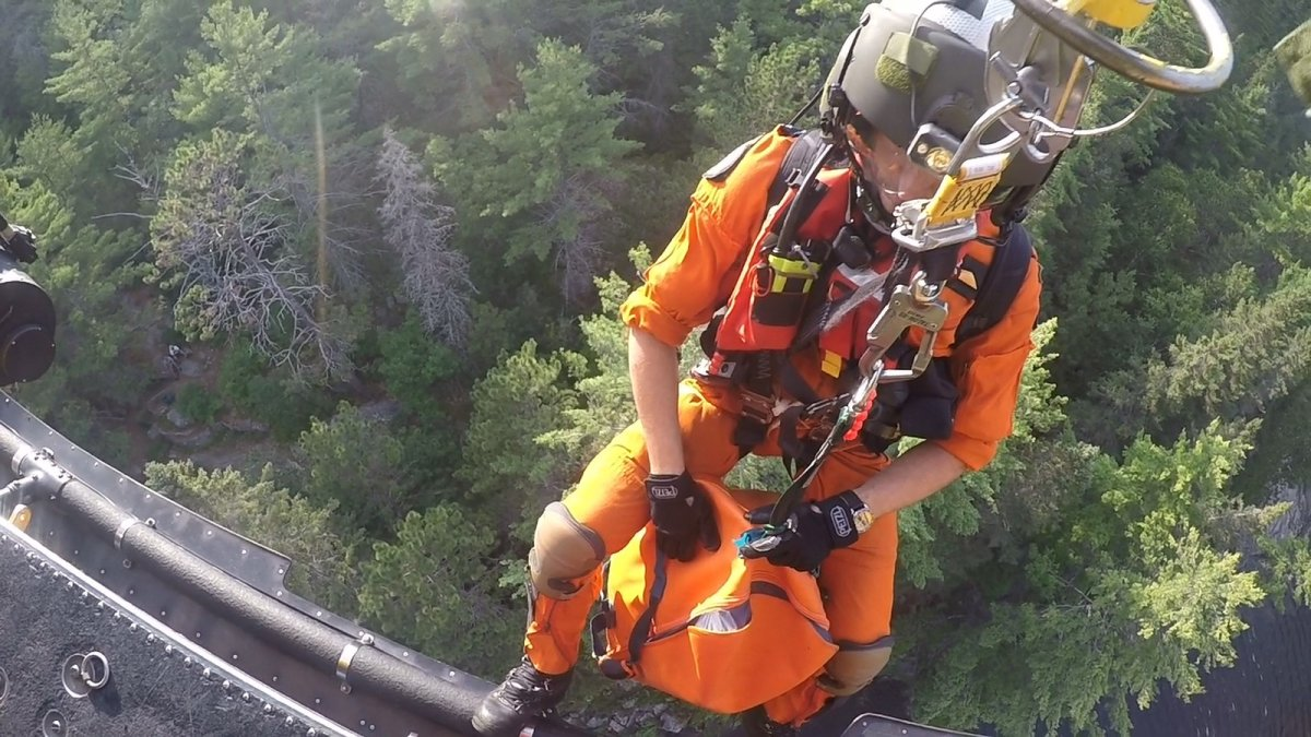 Search and rescue teams from CFB Trenton's 424 Squadron were called out to Algonquin Provincial Park twice over the last week to save stranded canoeists.