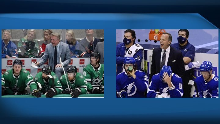 Dallas Stars head coach Rick Bowness was an associate coach for five years with the Tampa Bay Lightning alongside head coach Jon Cooper until leaving in 2018.