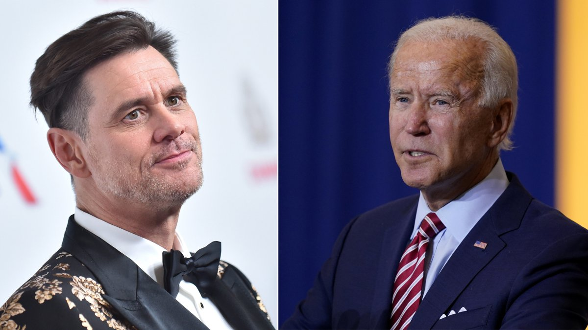 Jim Carrey, Joe Biden. Photo: CP Images.