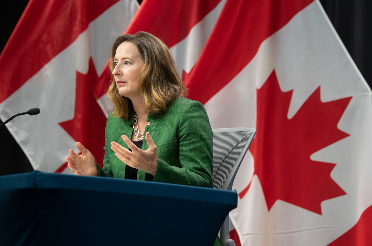 Senior Deputy Governor of the Bank of Canada Carolyn Wilkins responds to a question during a news conference, Wednesday, July 15, 2020 in Ottawa.