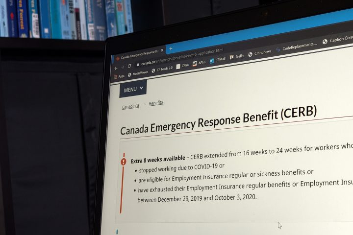 An analysis of federal data by The Canadian Press shows that the city had on average 148,479 recipients during each four-week pay period for the pandemic aid.