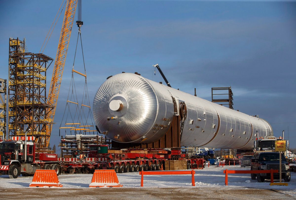 Inter Pipeline's Heartland Petrochemical Complex is shown under construction in Fort Saskatchewan, Alta., on Thursday, January 10, 2019.
