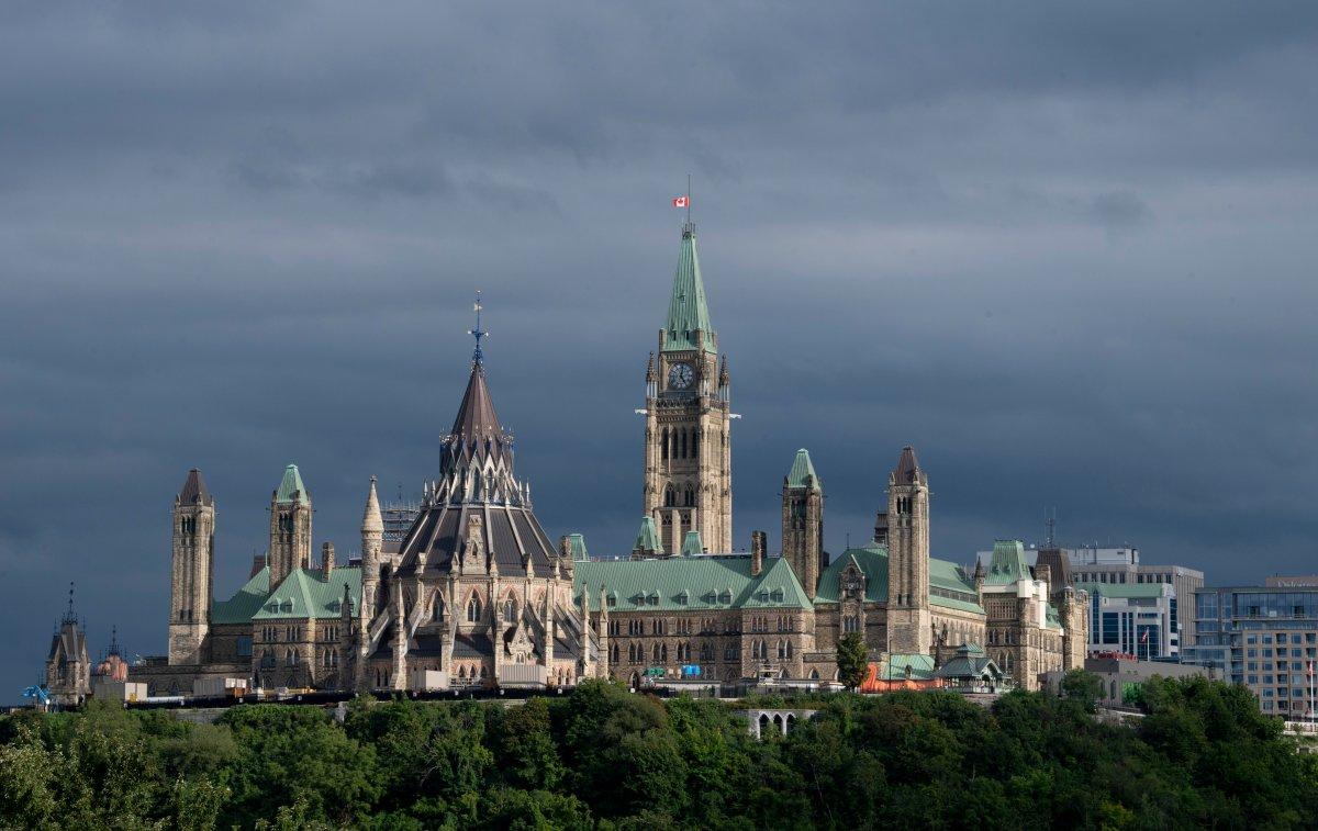 Parliament Hill is seen Tuesday September 1, 2020 in Ottawa.