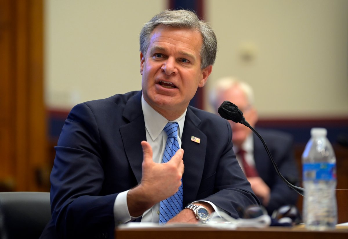 FBI Director Christopher Wray testifies before a House Committee on Homeland Security hearing Thursday, Sept. 17, 2020, on Capitol Hill Washington.