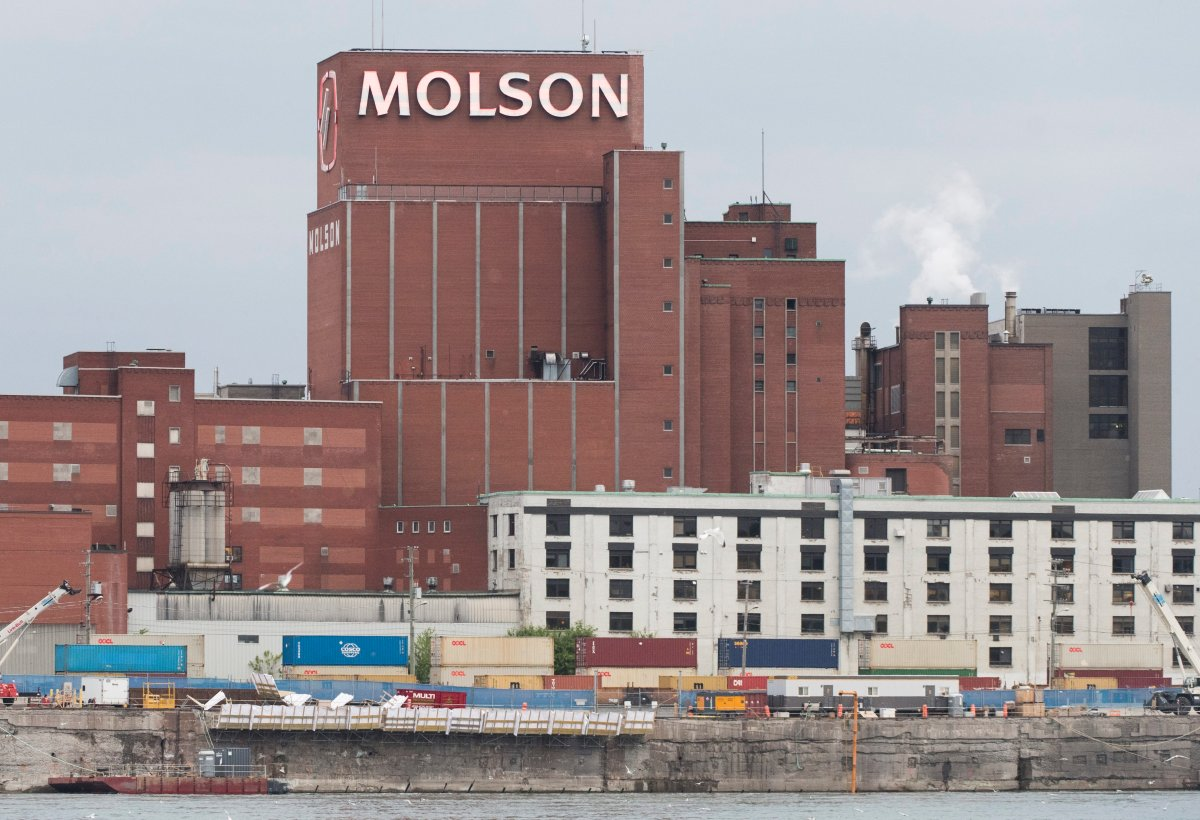 The Molson brewing company building is shown in Montreal, Tuesday, June 2, 2020.