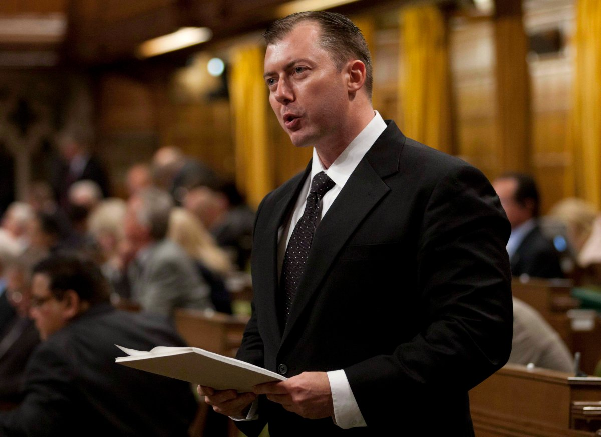 Former Conservative MP Rob Anders pictured in the House of Commons in Ottawa, Wednesday September 26, 2012.