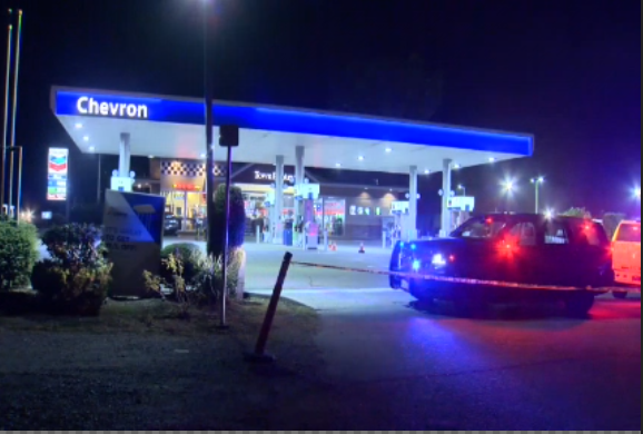 Langley RCMP were called to the area  of a Chevron gas station Saturday evening along 72nd Ave, due to a call of shots fired.