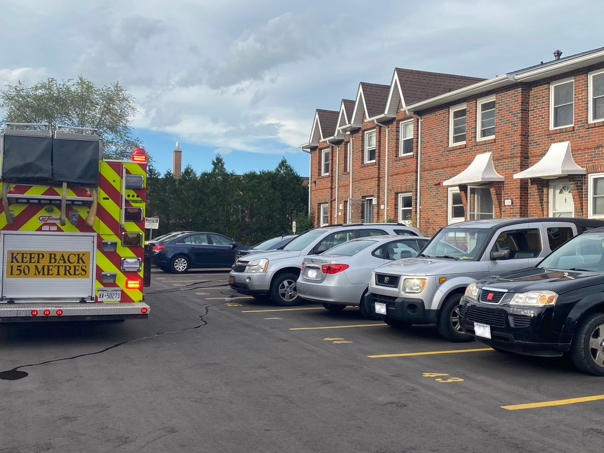 Emergency crews were called to a kitchen fire on Southdale Road East near Millbank.