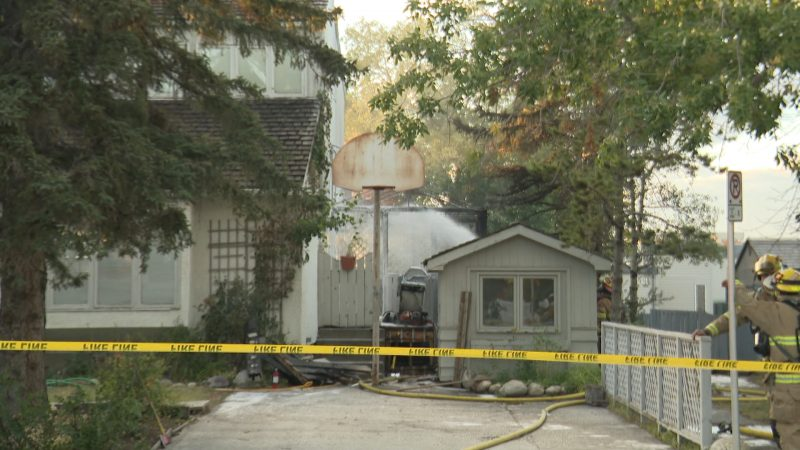 The Calgary Fire Department responds to a fire in the 1600 block of St. Andrews Place Northwest on Thursday, Sept. 3, 2020.