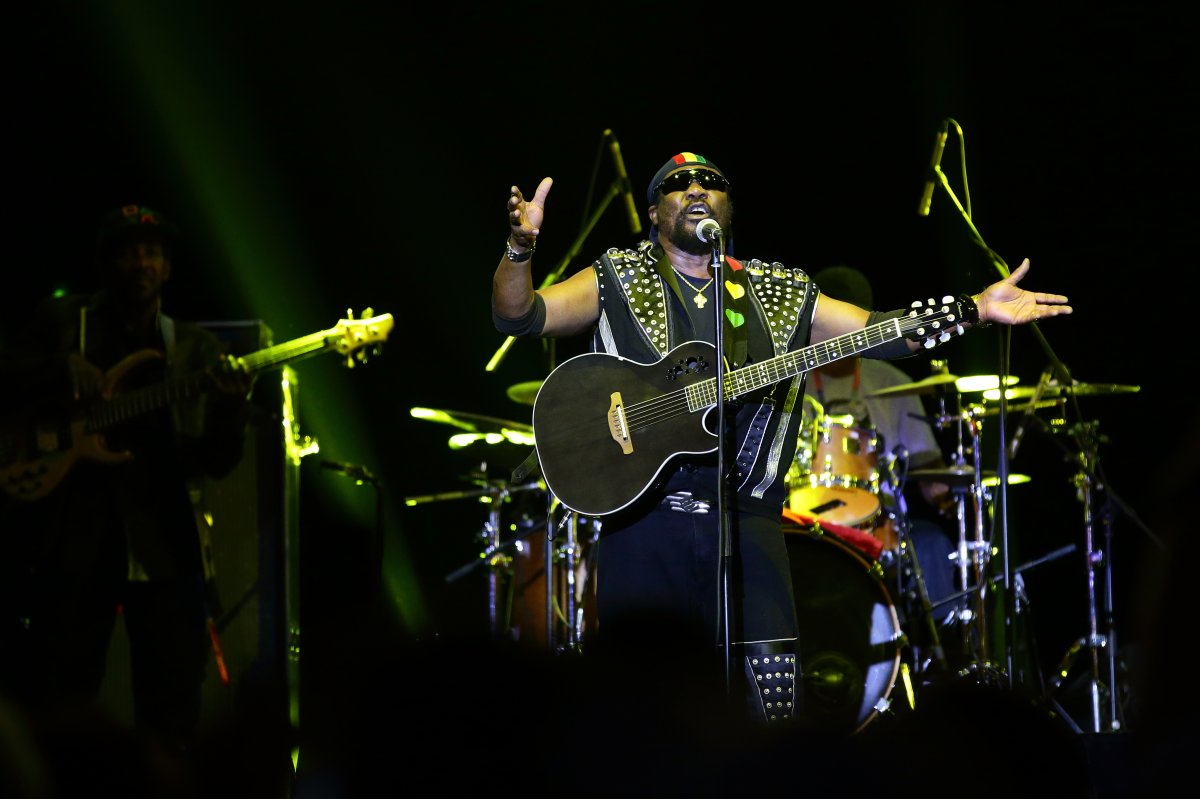 Toots Hibbert of Toots and the Maytals performs on stage during day one of Formula 1 Singapore Grand Prix at Marina Bay Street Circuit on September 20, 2019 in Singapore.