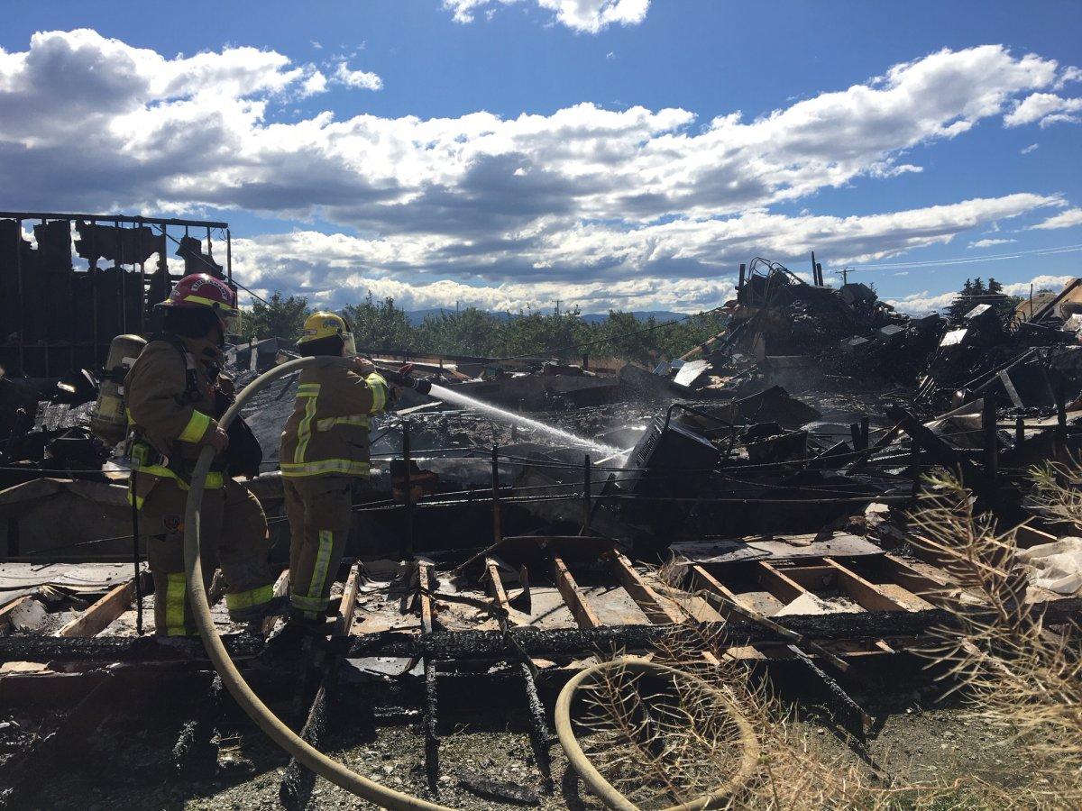 Fire destroys legal marijuana grow operation near Kelowna - image