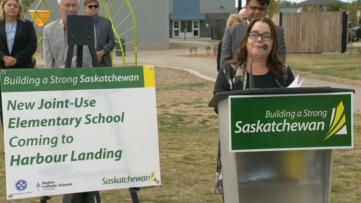 Board chair for Regina Public Schools, Katherine Gagne, says funding for a new school in Harbour Landing was 'so desperately wanted.'.