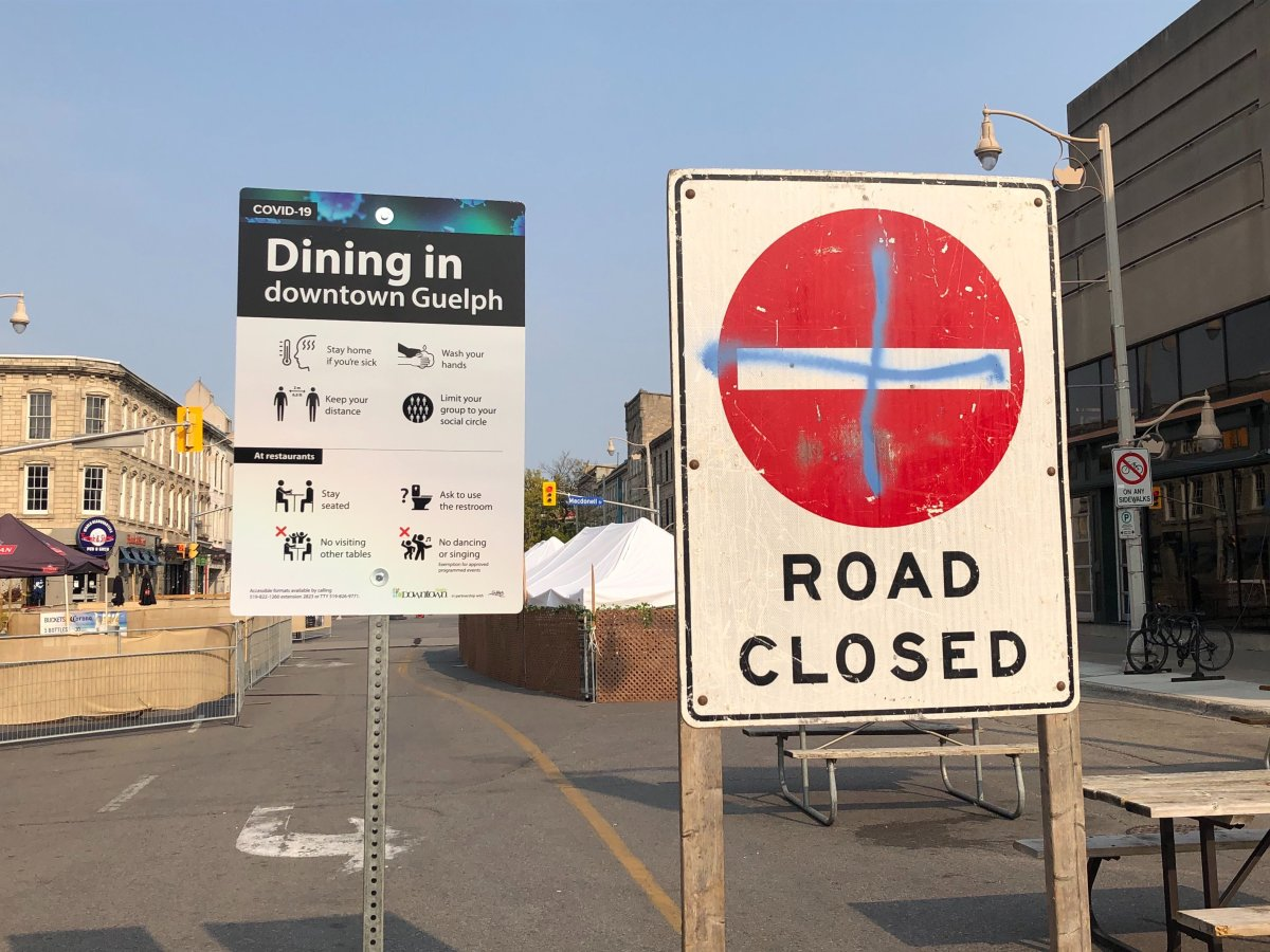 Downtown Guelph's dining district will stay open until the end of November.