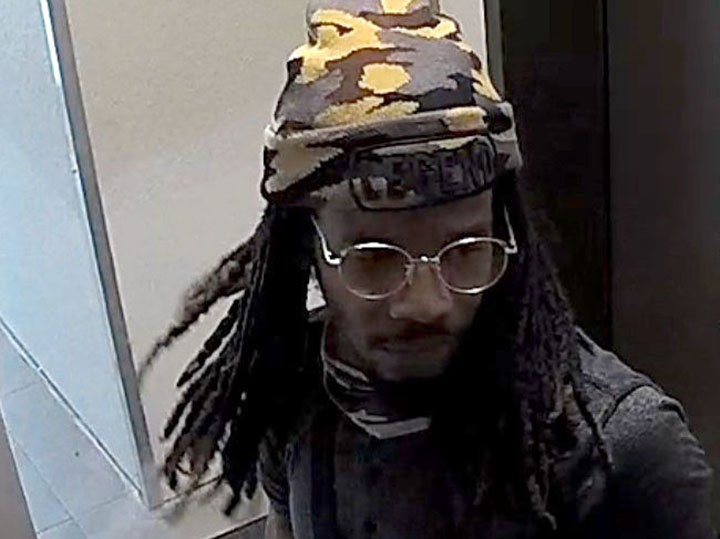 Police have released surveillance images of the man in hopes of advancing an assault investigation.