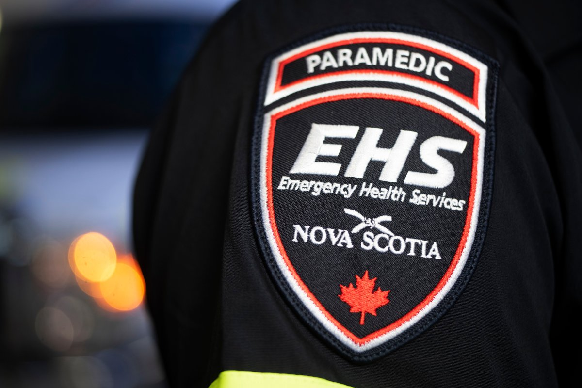 The Nova Scotia Emergency Health Services patch is seen in the photo.