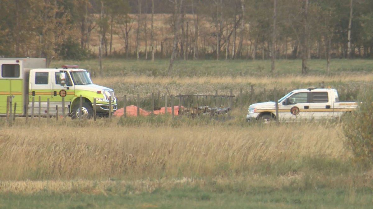 Two people died following a plane crash on Sept. 26, 2020, near Thorsby, Alta.