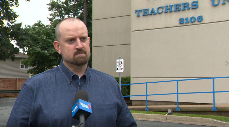 Nova Scotia Teachers Union president Paul Wozney is seen on Thursday, Sept. 3, 2020.