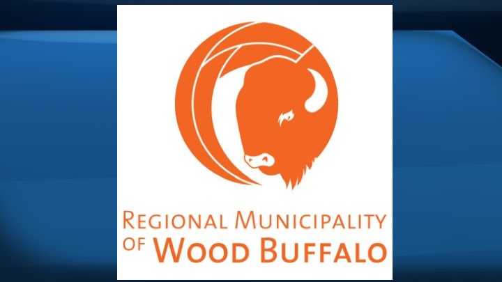 A file photo of the logo for the Regional Municipality of Wood Buffalo.