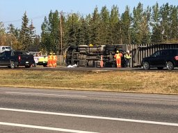 Continue reading: Traffic delayed by semi rollover on Highway 1 east of Regina