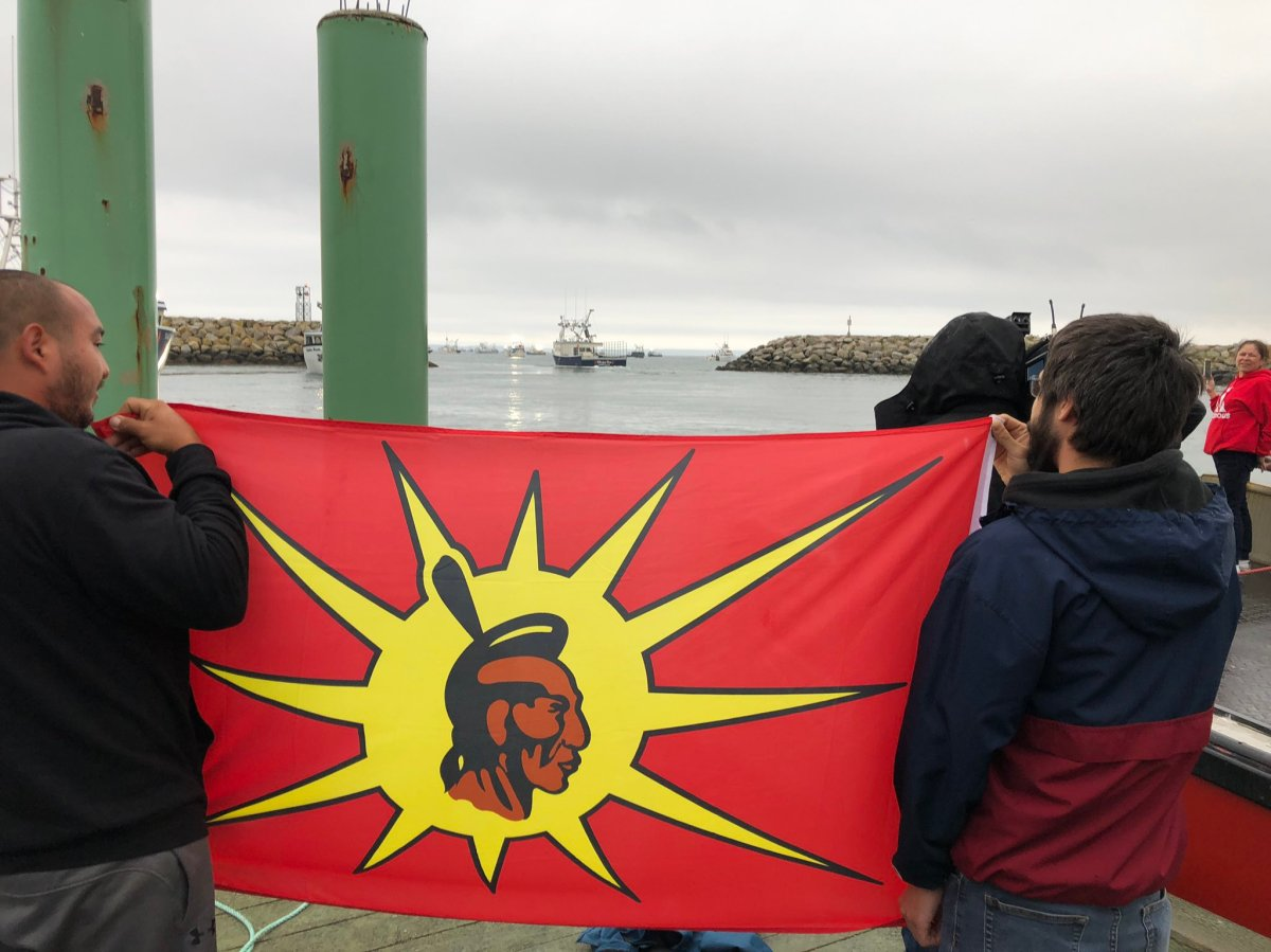 Boats from Sipekne'katik First Nation were tied up, after lobster traps were cut in dispute with commercial fishers. Sipekne'katik launched a self-regulated fishery on Sept. 17, in an effort to assert Treaty Rights upheld by the 1999 SCOC Marshall decision.
